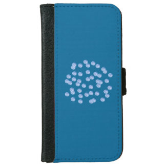 Blue Polka Dots iPhone 6/6s Wallet Case