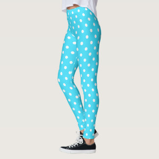 Blue Polka Dots Leggings