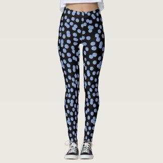 Blue Polka Dots Leggings
