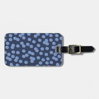 Blue Polka Dots Luggage Tag