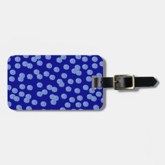 Blue Polka Dots Luggage Tag
