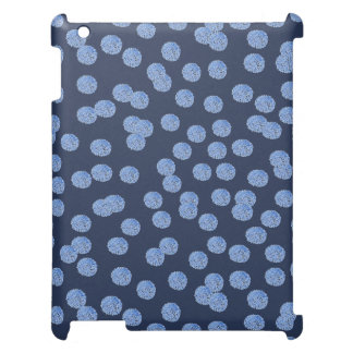Blue Polka Dots Matte iPad Case