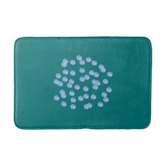 Blue Polka Dots Medium Bath Mat