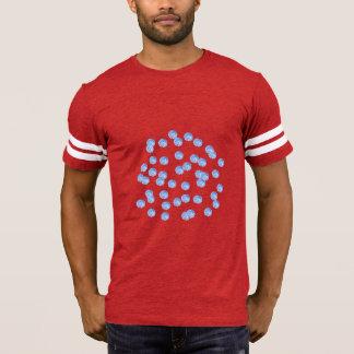 Blue Polka Dots Men's Football T-Shirt