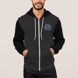 Blue Polka Dots Men's Full-Zip Hoodie