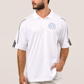 Blue Polka Dots Men's Golf Polo T-Shirt