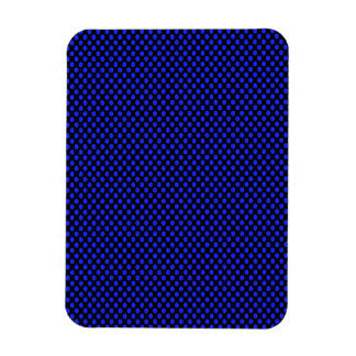 Blue Polka Dots on Black Rectangular Photo Magnet