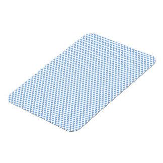 Blue Polka Dots on White Rectangular Photo Magnet