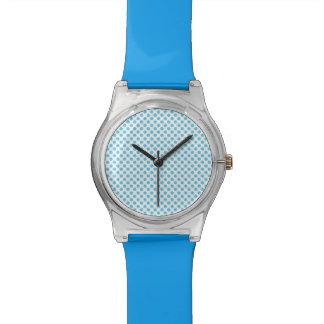 Blue Polka Dots on White Watch