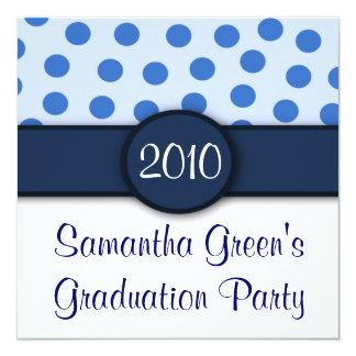 Blue Polka Dots Party Invitations
