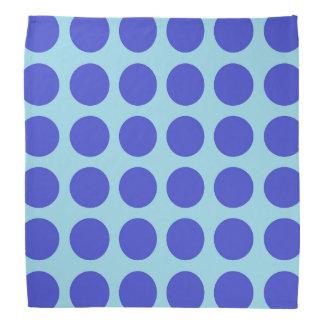 Blue Polka Dots Pastel Blue Bandana