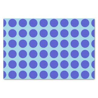 Blue Polka Dots Pastel Blue Tissue Paper