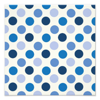 Blue Polka Dots Photo