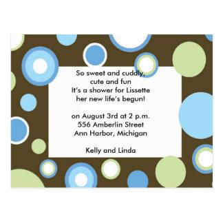 Blue Polka Dots Postcard