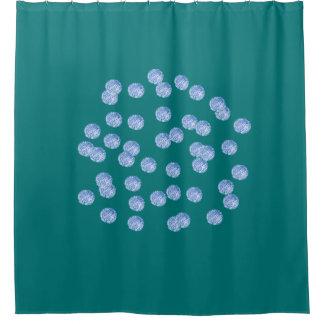 Blue Polka Dots Shower Curtain