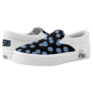Blue Polka Dots Slip On Shoes