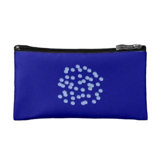 Blue Polka Dots Small Cosmetic Bag