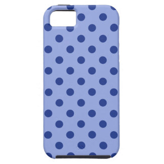 Blue Polka Dots Tough iPhone 5 Case