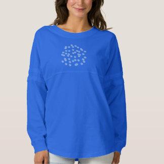 Blue Polka Dots Women's Jersey Spirit Shirt