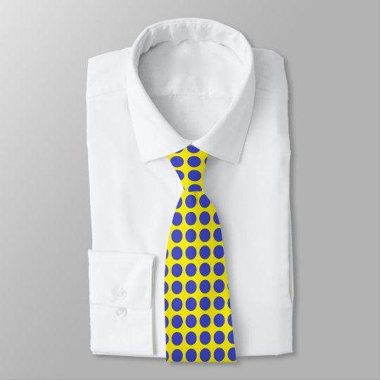 Blue Polka Dots Yellow Tie
