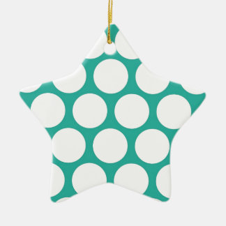 Blue polka doty christmas ornament