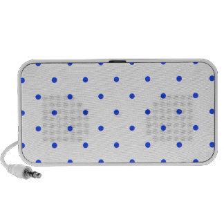 Blue Polkadots Small Portable Speakers