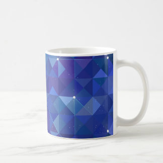Blue polygonal galaxy illustration basic white mug
