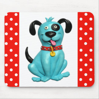 Blue Pooch Mouse Pad