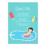 Blue Pool Party Invitation