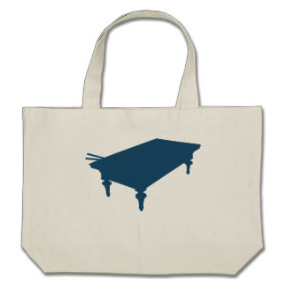 Blue Pool Table Tote Bags