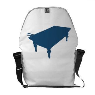 Blue Pool Table Messenger Bags
