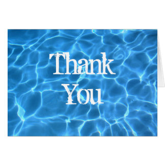 Blue Pool Thank You Card