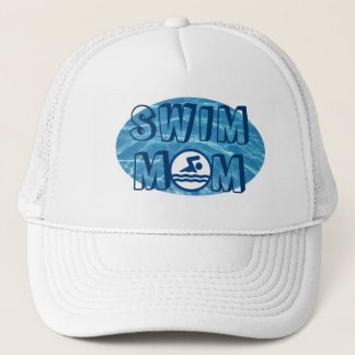 Blue Pool Water Swim Mom Hat