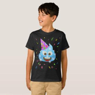 Blue Poop Funny Kids Emoji Birthday Party T-Shirt
