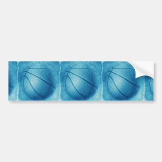 Blue Pop Art Basketball Bumper Sticker