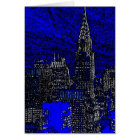 Blue Pop Art New York City Greeting Card
