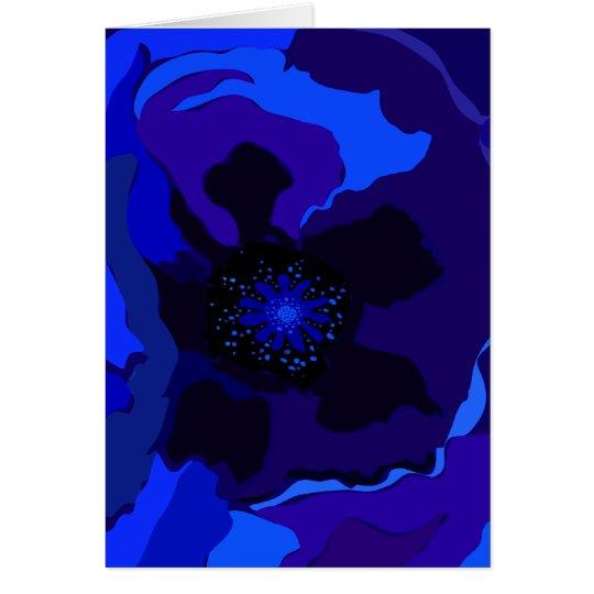 Blue Poppy Card
