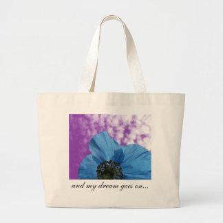 BLUE POPPY flower dream purple Jumbo Tote Bag