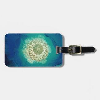 Blue Poppy Luggage Tag