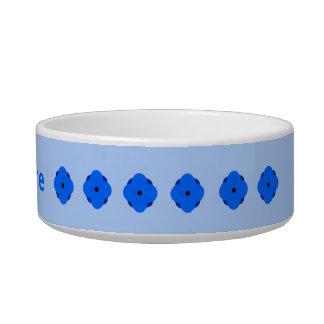 Blue poppy pattern add name bowl
