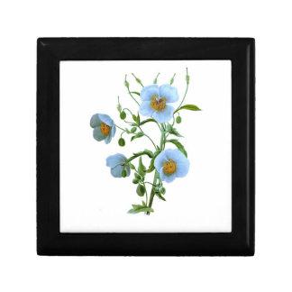 Blue Poppy Small Square Gift Box