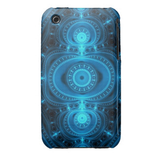 Blue Power, abstract fractal iPhone 3 Covers