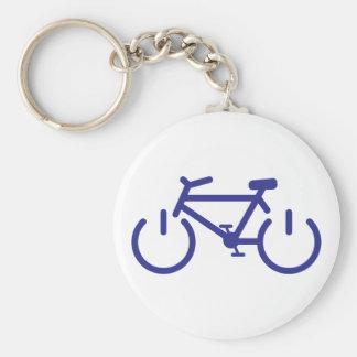 Blue Power Bike Basic Round Button Key Ring
