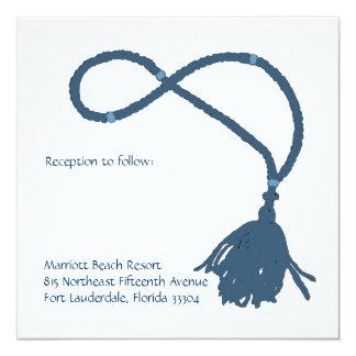 Blue Prayer rope Reception Custom Invitations
