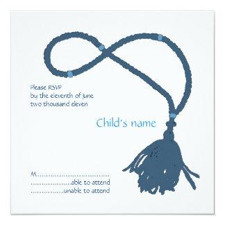 Blue Prayer rope RSVP Invite