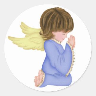 Blue Praying Angel 2 Stickers