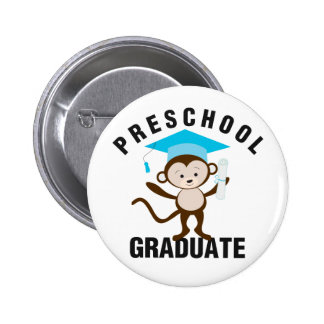 Blue Preschool Graduate 6 Cm Round Badge