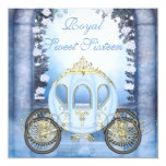 Blue Princess Carriage Enchanted Sweet 16