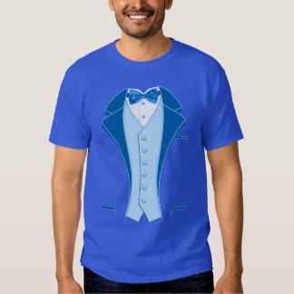 Blue Print Tuxedo Tee Shirt