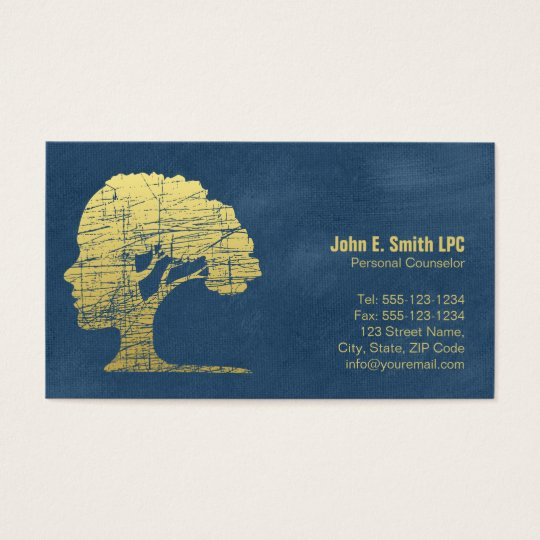 Blue Psychologist Personal Counsellor Appointment Business Card